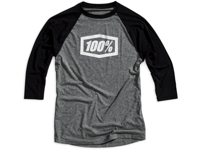100% Essential 3/4 Tech Tee Herre grey/black